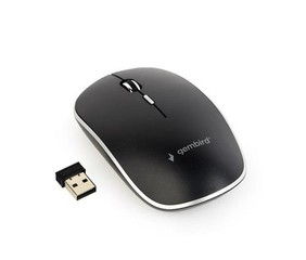 GEMBIRD myš MUSW-4B-01 černá, bezdrátová, USB nano receiver