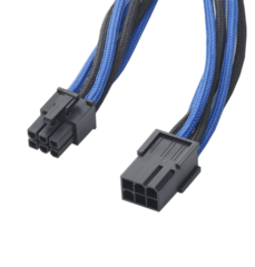 BITFENIX kabel Alchemy Mixed 6-pin PCIe prodlužovací 45cm - textilní pouzdro, modrá/černá