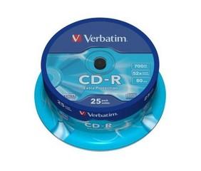 VERBATIM 43432 CD-R 25cake 52x DL EP media (krabice=8x25pack)