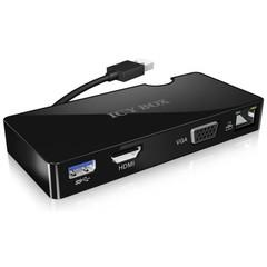 RAIDSONIC ICY BOX IB-DK401 multifunkční USB 3.0 adaptér