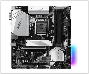 ASROCK B460M PRO4 (intel 1200, 4xDDR4 2933MHz, 6xSATA3, 2xM.2+M.2(wifi), VGA+HDMI +DPort, 1xGLAN, mATX)