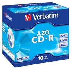 VERBATIM 43327 CD-R 10jewel 52x DLP Crystal media (krabice=10x10pack)