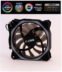 1stCOOL ventilátor AURA RAINBOW Hexagon1 ARGB ventilátor 120mm (tmavé lopatky) (do CASE)