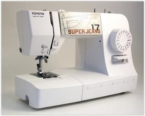 TOYOTA Super Jeans J17W šicí stroj (použitý) (Jeans17W, J17W, bílý)