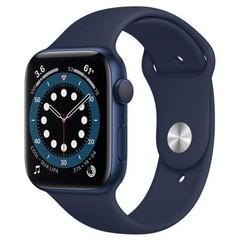Apple Watch Series 6 GPS, 44mm Blue Aluminium Case with Deep Navy Sport Band (APPLE hodinky)