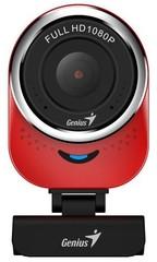 GENIUS VideoCam Webkamera Genius QCam 6000 červená Full HD 1080P, mikrofon, USB 2.0,