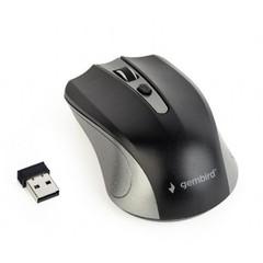 GEMBIRD myš MUSW-4B-04-GB, stříbrno-černá, bezdrátová, USB nano receiver