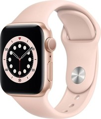 Apple Watch Series 6 GPS, 40mm Gold Aluminium Case with Pink Sand Sport Loop (APPLE hodinky)
