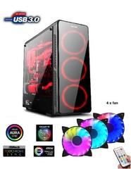 1stCOOL Middle Tower GAMER 3, ATX black černý, bez zdroje, fulltower ATX (sada ARGB ventilátorů) (2xUSB2+ 1xUSB3+ Audio+ Transparentní bočnice) (PC case)