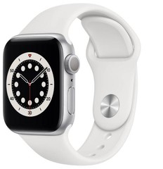 Apple Watch Series 6 GPS, 40mm Silver Aluminium Case with White Sport Loop (APPLE hodinky)