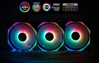 1stCOOL Fan KIT4 AURA RAINBOW 4 HEXAGON MUSIC, 3x ARGB LED ventilátor 120x25mm hex + řadič + dálkové ovládání music (sada do case)