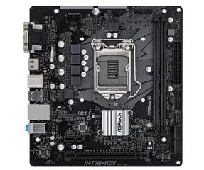 ASROCK H470M-HDV (intel 1200, H470, 4xDDR4 2933MHz, PCIE, VGA+HDMI +DVI, 6xSATA3, USB3.2, 7.1, GLAN, mATX)