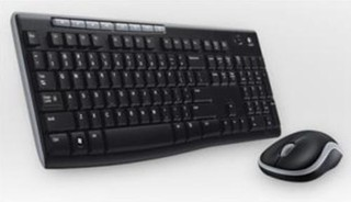 LOGITECH bezdrátový set Wireless Desktop MK235, klávesnice + myš, CZ , USB, černá