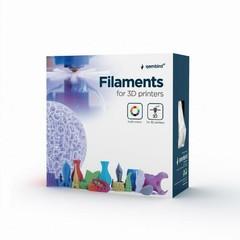 GEMBIRD 3D PETG plastové vlákno pro tiskárny, průměr 1,75 mm, bílé, 3DP-PETG1.75-01-W
