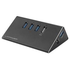 LC-POWER LC-HUB-ALU-2B-4 externí USB HUB (3x USB 3.0 + 1x nabíjecí port)