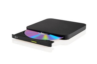HLDS (HITACHI-LG) DVD±RW GP96 SLIM external černá USB 2.0, 8xDVD±RW, 5xDVD-RAM, black, slim černá