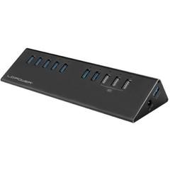 LC-POWER LC-HUB-2B-10 externí USB HUB (7x USB 3.0 + 3x nabíjecí port)