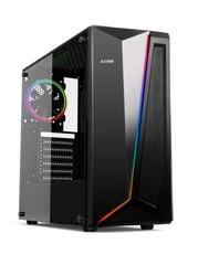 1stCOOL Middle Tower RAINBOW 2 EVO ARGB Strip + Fan, ATX black černý, bez zdroje, fulltower ATX (2xUSB2+ 1xUSB3+ Audio+ Transparentní bočnice) (PC case)