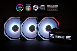 1stCOOL Fan KIT AURA EVO4 ARGB, 3x Hexa2 ventilátor 120x25mm +řadič +dálkový kit-(sada do case)