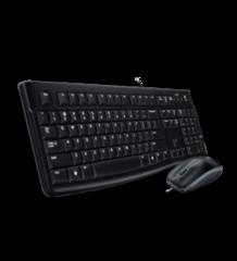 LOGITECH drátový set Desktop MK120, klávesnice + myš, US EER, USB, černá-šedá