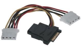 Kabel napájecí k HDD SATA na 3x 5,25