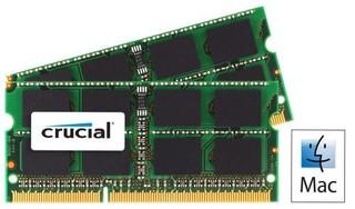 CRUCIAL pro Apple/Mac 16GB=2x8GB DDR3 SO-DIMM 1333MHz PC3-10600 CL9 1.35V/1.50V Dual Voltage