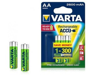 VARTA 2pack AA/HR6 2600mAh nabíjecí baterie ACCU R2U (bývalé Photo Accu, Ready2use)