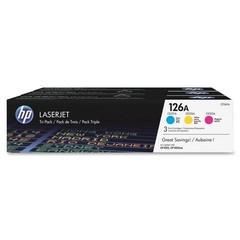 HP CF341A = CE311A+CE312A+CE313A č. 126A cyan+magenta+yellow toner cca 1000 stran (LJ color CP1025,