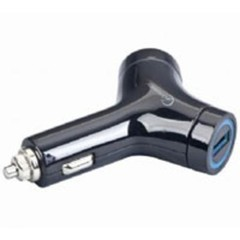 Kabel Nabíječka USB uni CL car charger 2xUSB 5V 2000mA GEMBIRD BLACK MP3A-UC-CAR5 (CAR adapter)
