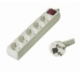 Kabel prodlužka PP5 220V 2m (5zás. + vypínač) POWERGARDEN