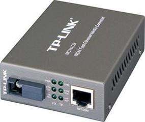 TP-LINK MC111CS převodník WDM, 10/100, support SC fiber singlmode - 5V