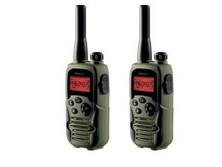 TOPCOM TwinTalker 9500 AIRSOFT edition 2x vysílačka+ nabíječka+ baterie+ sluchátka, voděodolná, voje