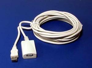 KABEL USB A-A 5.0m prodlužovací aktivní USB 2.0