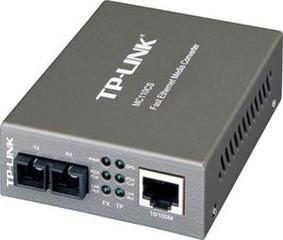 TP-LINK MC110CS převodník, 1x10/100M RJ45 / 1 x singl-mode - Verze 2 (9V)