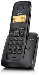 SIEMENS Gigaset A120 bezdrátový telefon, podsvícený display, černý