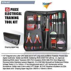 GOLDTOOL BOX GTK-027B sada nářadí 15ks (Electrical Training Tool)
