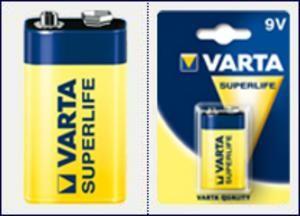VARTA 1ks SuperLife 9V E-BLOK/6F22 baterie (zinko-chlorid)
