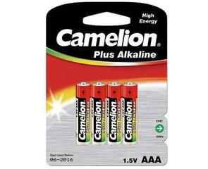 CAMELION 4ks baterie PLUS ALKALINE AAA/LR03 blistr baterie alkalické (cena za 4pack)