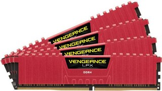 CORSAIR 16GB=4x4GB DDR4 2666MHz VENGEANCE LPX RED PC4-21300 CL16-18-18-35 1.2V XMP2.0 (16GB=kit 4ks