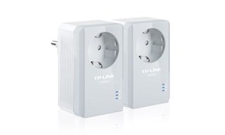 TP-LINK TL-PA4010P STARTER-KIT průchozí Powerline Ethernet adapter 500Mb/s , 2 kusy homeplug