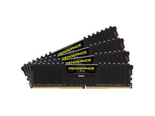 CORSAIR 16GB=4x4GB DDR4 2666MHz VENGEANCE LPX BLACK PC4-21300 CL16-18-18-35 1.2V XMP2.0 (16GB=kit 4k