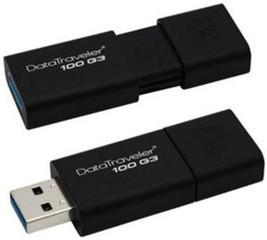KINGSTON DataTraveler100 G3 32GB black USB3.0 flash drive (černý, výsuvný konektor)