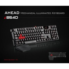 A4TECH herní klávesnice A4-B540 BLOODY black Cherry MX USB , US layout