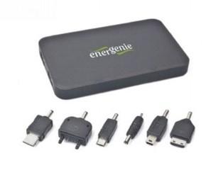 GEMBIRD EG-PC-008 napájecí zdroj Power Bank, 10000mAh, USB výstup, 6ks konektorů pro mob. zařízení