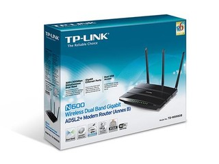 TP-LINK TD-W8980B wifi ADSL2+ modem , 300Mbps, MODEM 4xGLAN/WIFI 300Mbps router, 2x USB, 2 pásma