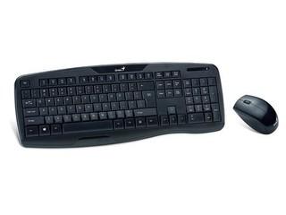 GENIUS klávesnice+myš KB-8000X USB černá, 2.4GHz, bezdrátový set, CZ+SK, mini receiver