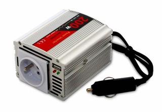 EUROCASE 200W měnič DC/AC 12V/230V + USB výstup