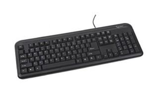 GEMBIRD klávesnice KB-U-103-RU, USB, black, RUS layout (RUSKÁ)