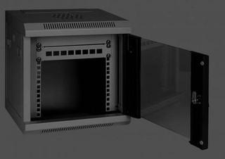 EUROCASE GMC3204 4U wall mounted cabinet 350x280x255mm black (nástěnný rozvaděč, černý)