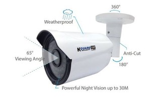 KGUARD CCTV kamera WA713APK4 ( kit 4x kamera) Fulcolor, 720P, IR LED dosvit 30m, 3.6mm fixní objekti